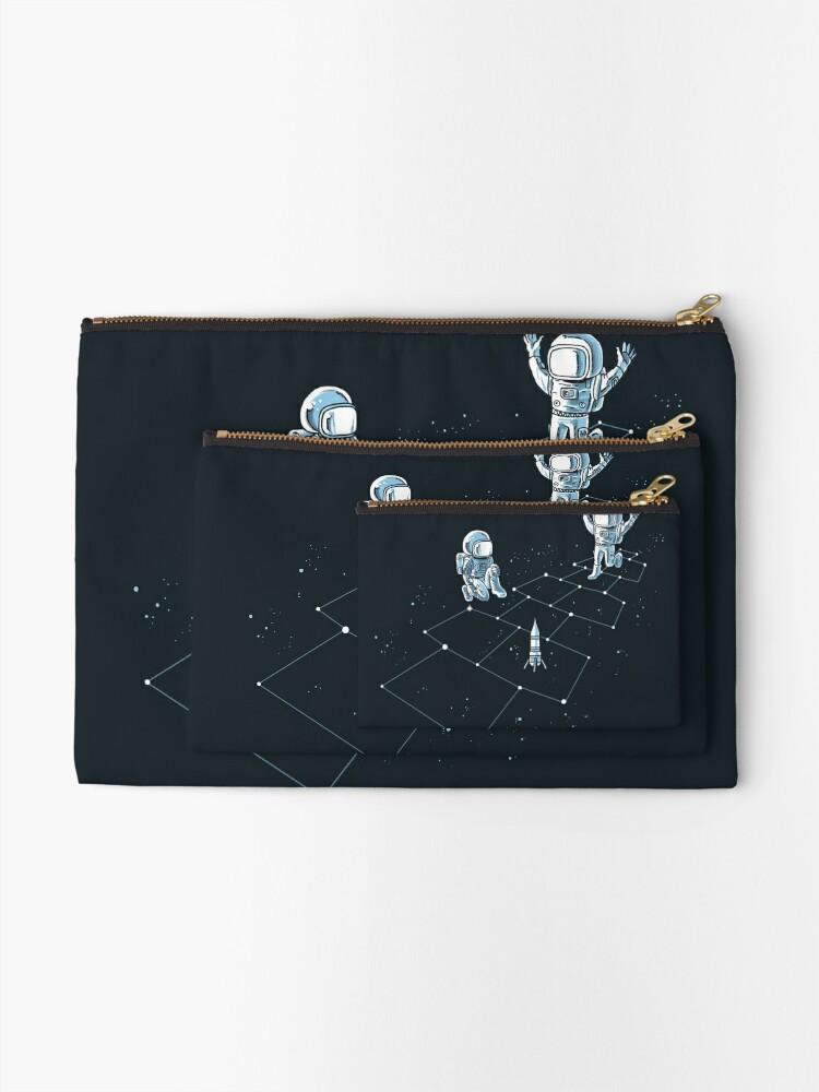 Alternate view of Hopscotch Astronauts Zipper Pouch