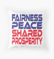 #OurPatriotism: Fairness, Peace, Shared Prosperity by André Robinson Throw Pillow
