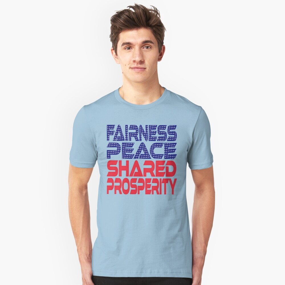 #OurPatriotism: Fairness, Peace, Shared Prosperity by André Robinson Slim Fit T-Shirt