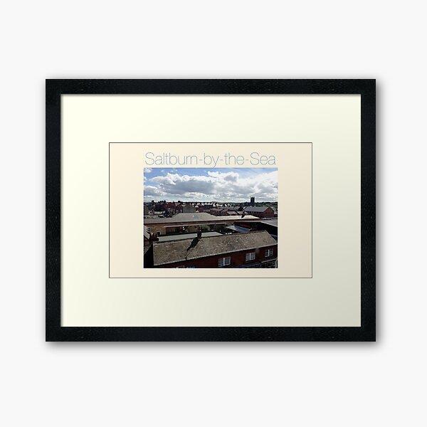NDVH Saltburn - rooftops. Framed Art Print