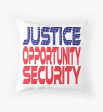 #OurPatriotism: Justice, Opportunity, Security by André Robinson Throw Pillow