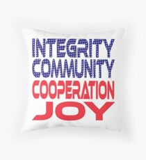 #OurPatriotism: Integrity, Community, Cooperation, Joy by André Robinson Throw Pillow