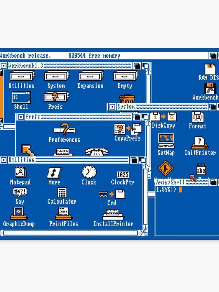 NDVH Amiga Workbench 1 3 | Canvas Print