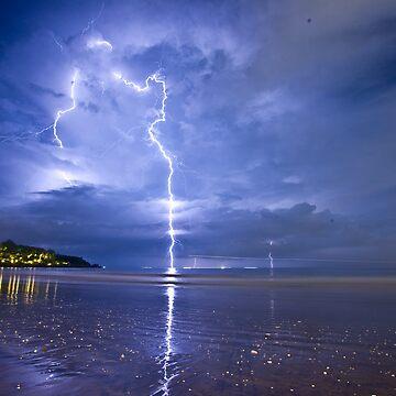 Lightning in Bali by crowdedstudios