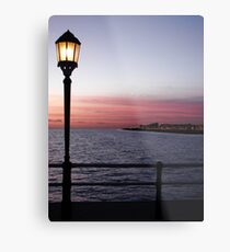 The Sun Goes Down And The Lamps Come On Metal Print