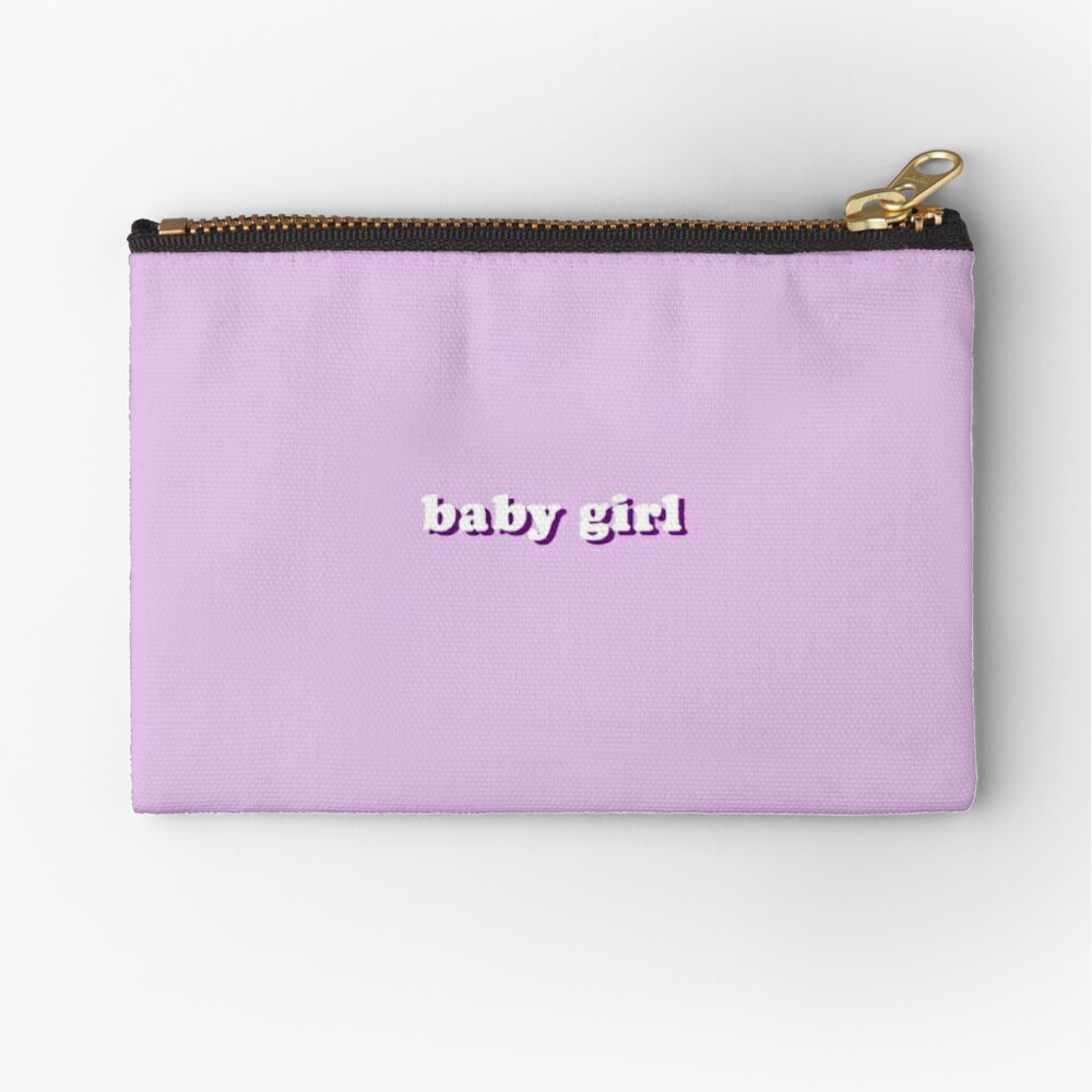 baby girl purple aesthetic grunge teen phone case wallet 4 sticker zipper pouch by kaledabean redbubble redbubble