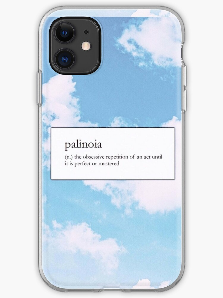 palinoia clouds blue sky soft aesthetic phone case wallet sticker iphone case cover by kaledabean redbubble redbubble