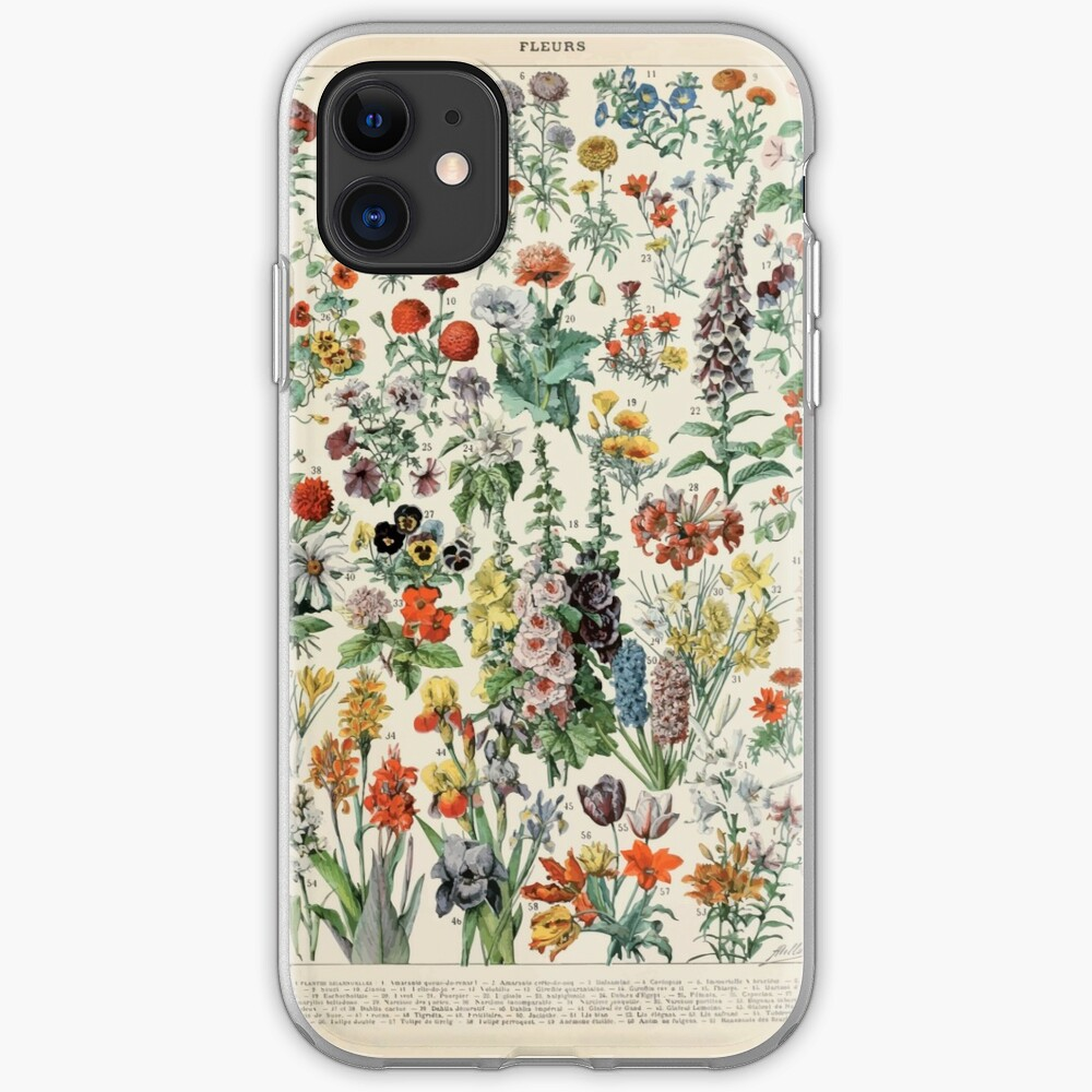 Adolphe Millot fleurs A iPhone Case & Cover