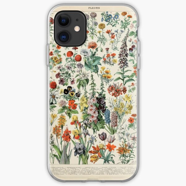 Adolphe Millot fleurs A iPhone Soft Case