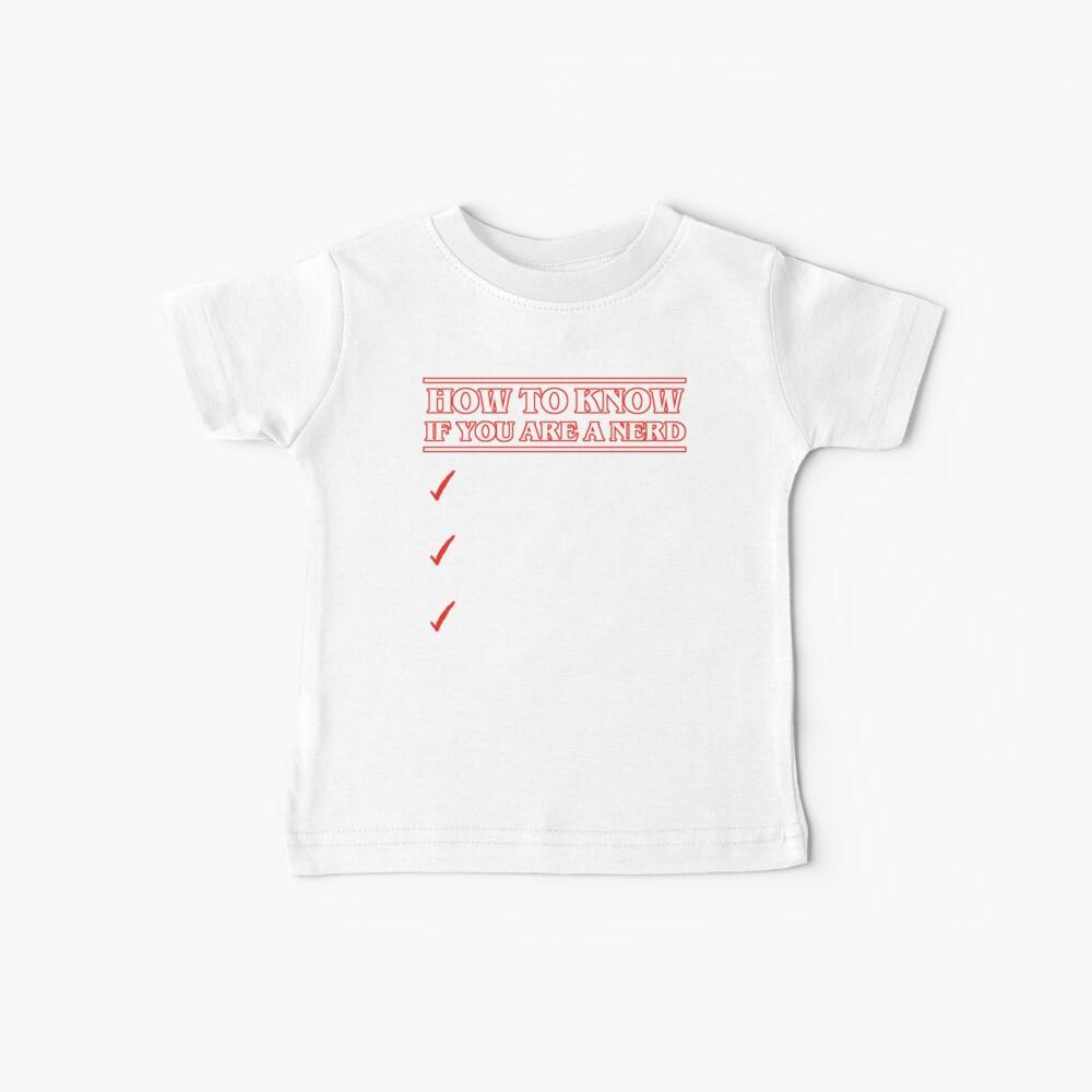 Nerd checklist Camiseta para bebés