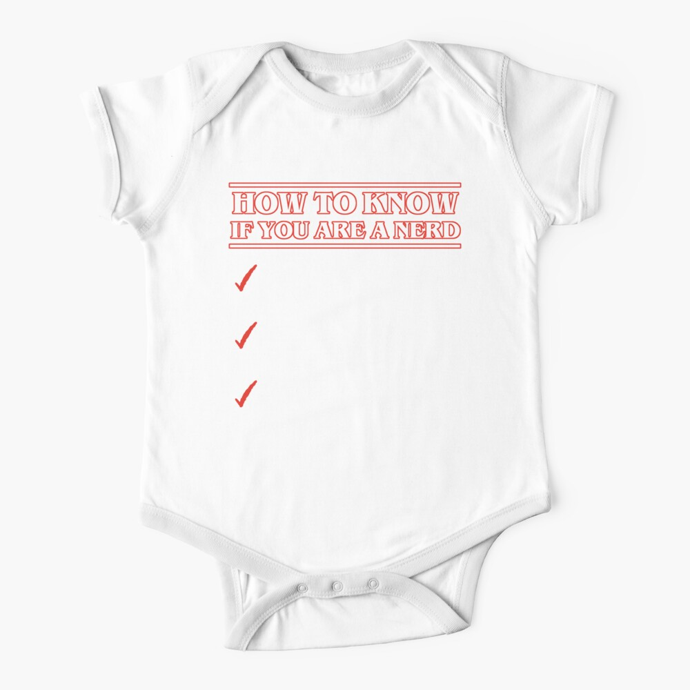 Nerd checklist Body para bebé