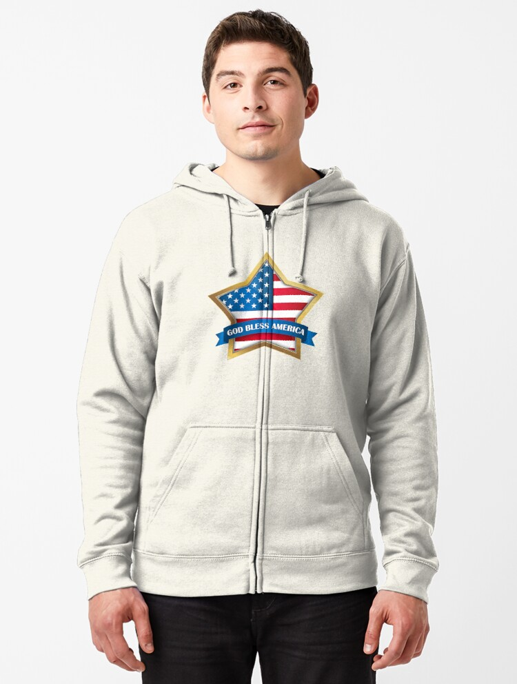Lord Bless America Be A Nice Human Unisex Hoodie