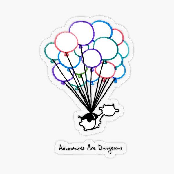 Birthday Balloon Cow Transparent Sticker