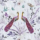 Peacock Chinoiserie (lavender)  by Esther  Fallon Lau