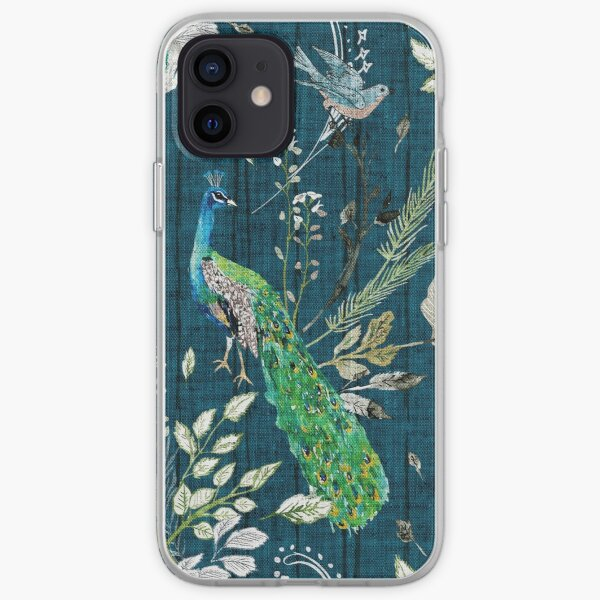 Peacock Chinoiserie (teal)  iPhone Soft Case