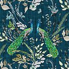 Peacock Chinoiserie (teal)  by Esther  Fallon Lau