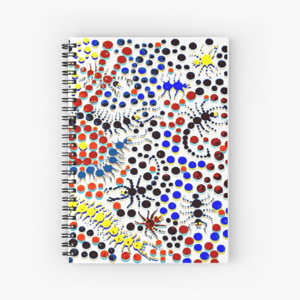 Psychedelic Creepy Crawlers Spiral Notebook
