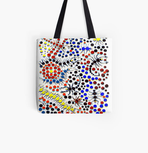 Psychedelic Creepy Crawlers All Over Print Tote Bag