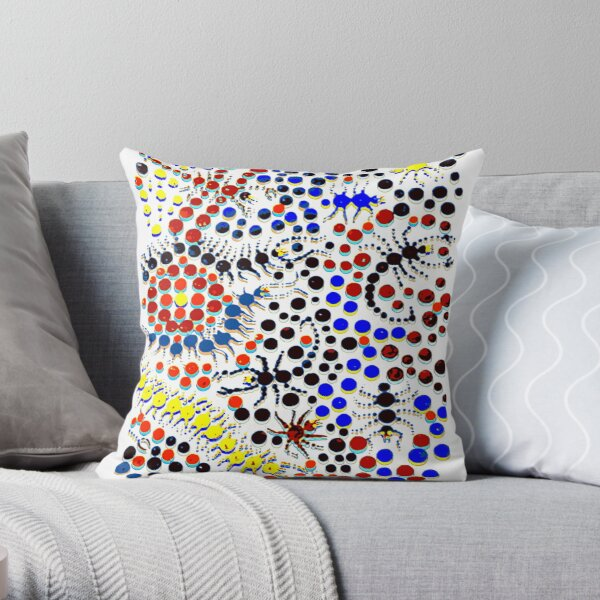 Psychedelic Creepy Crawlers Throw Pillow