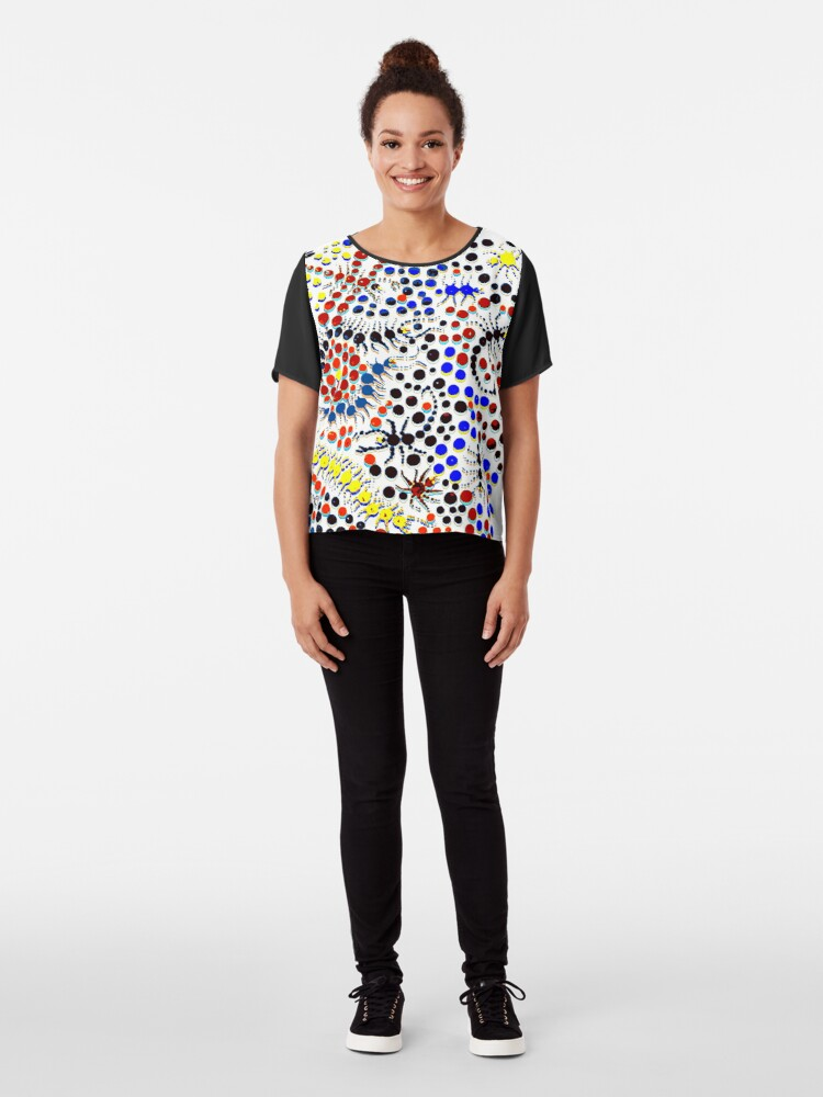 Alternate view of Psychedelic Creepy Crawlers Chiffon Top