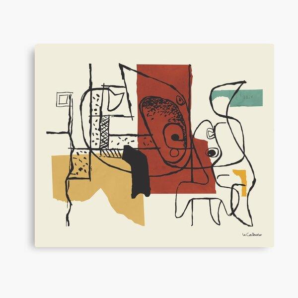 Pintura de Le Corbusier - Dos cabezas Lienzo