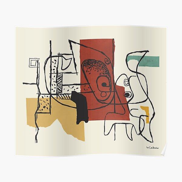 Pintura de Le Corbusier - Dos cabezas Póster