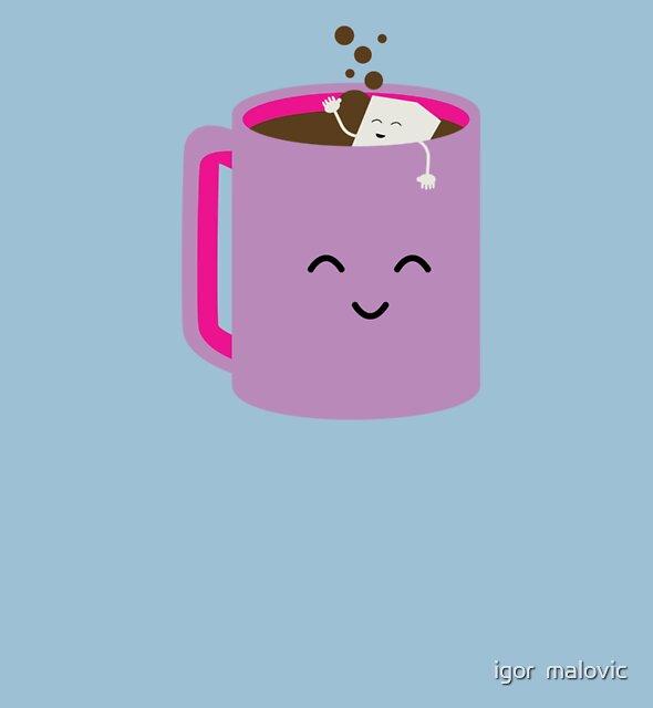sugar enjoys a bath in a coffee cup by igor  malovic