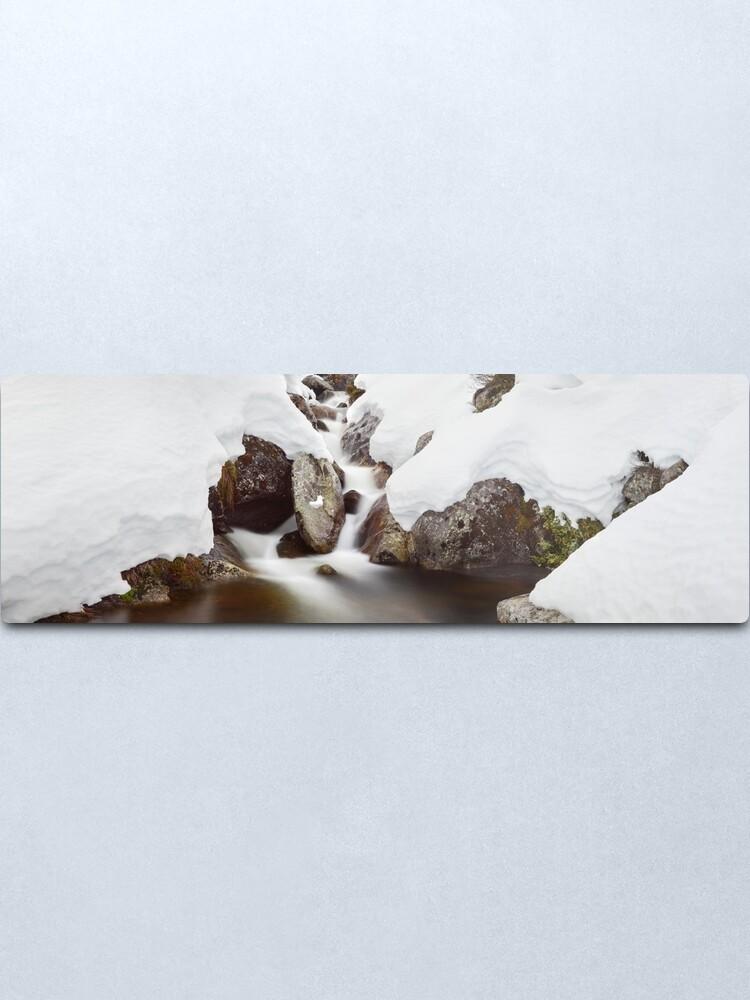 Alternate view of Rocky Valley Stream, Falls Creek, Victoria Australia Metal Print