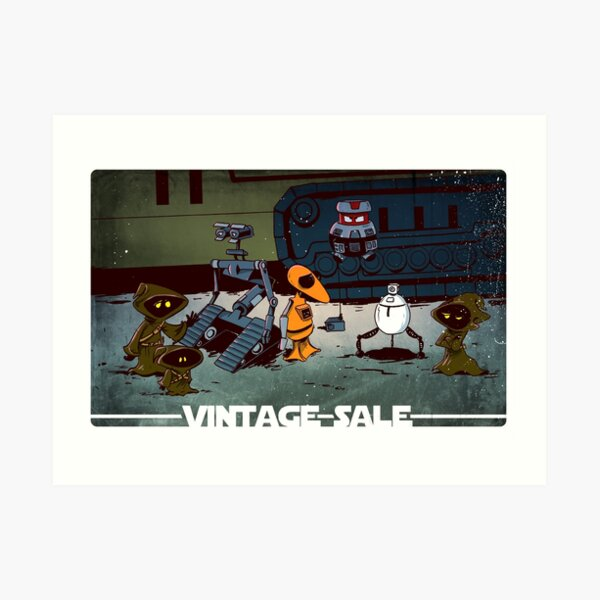 Vintage robots for sale Art Print
