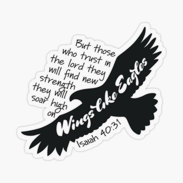 Isaiah 40:31 Transparent Sticker
