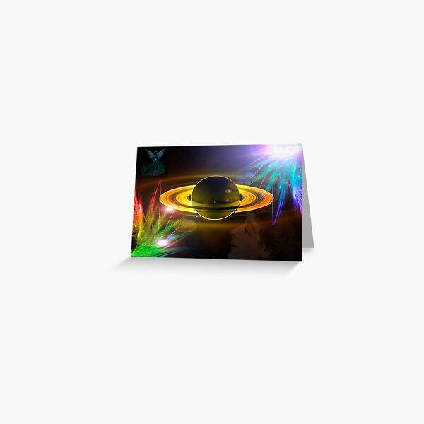 Universal Axle (Artwork by Gail Bridger) Greeting Card