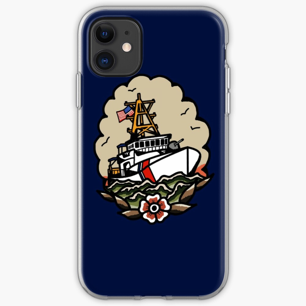 Underway Coast Guard Fast Response Cutter Traditional Tattoo Flash iPhone Case & Cover