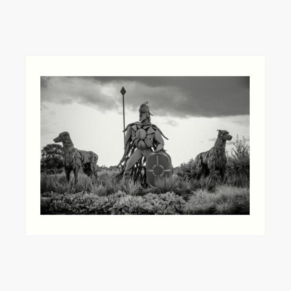 Fionn Mac Cumhaill and his hounds Art Print