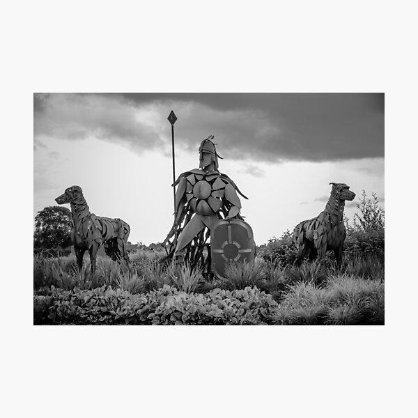 Fionn Mac Cumhaill and his hounds Photographic Print