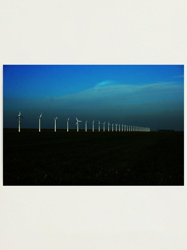 Alternate view of Windfarm Photographic Print