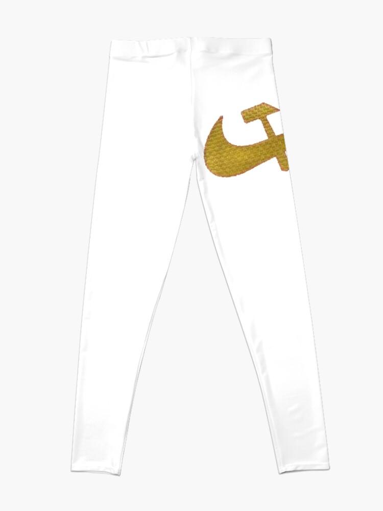 Alternate view of Stylized #Hammer and #Sickle Symbol #☭ #HammerAndSickle Leggings
