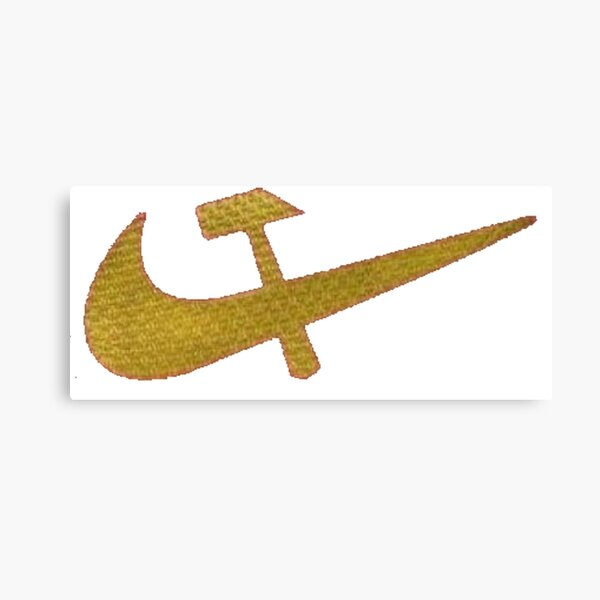 Stylized #Hammer and #Sickle Symbol #☭ #HammerAndSickle Canvas Print