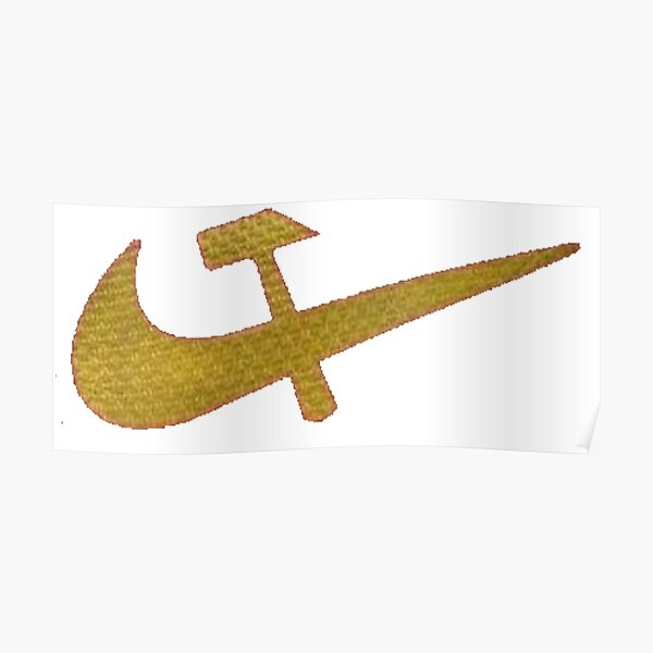 Stylized #Hammer and #Sickle Symbol #☭ #HammerAndSickle Poster