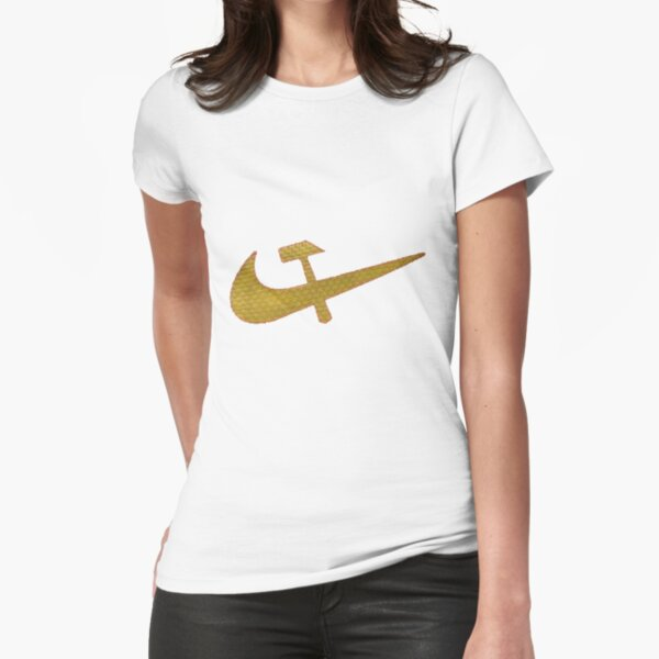 Stylized #Hammer and #Sickle Symbol #☭ #HammerAndSickle Fitted T-Shirt