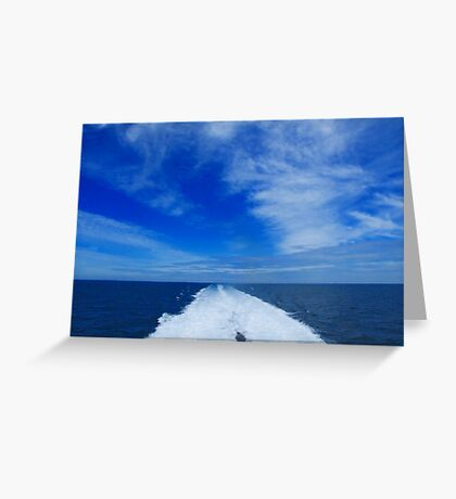 Blue Horizon Greeting Card