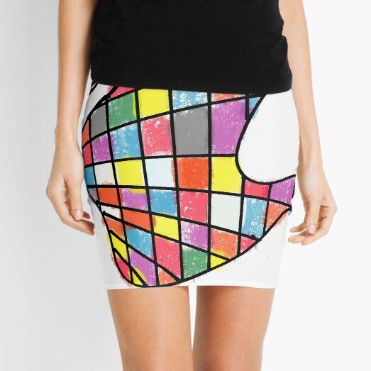 Hand of Mirrors Mini Skirt