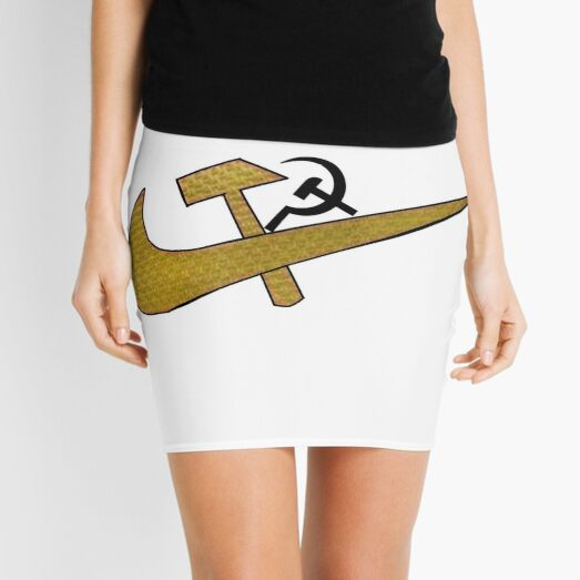 Stylized #Hammer and #Sickle Symbol ☭ #HammerAndSickle Mini Skirt