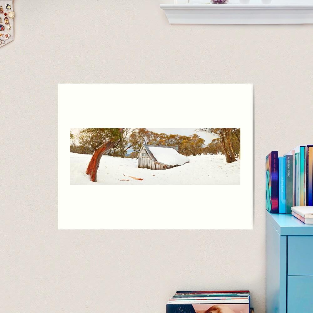 Snowed In, Wallace Hut, Falls Creek, Victoria, Australia Art Print