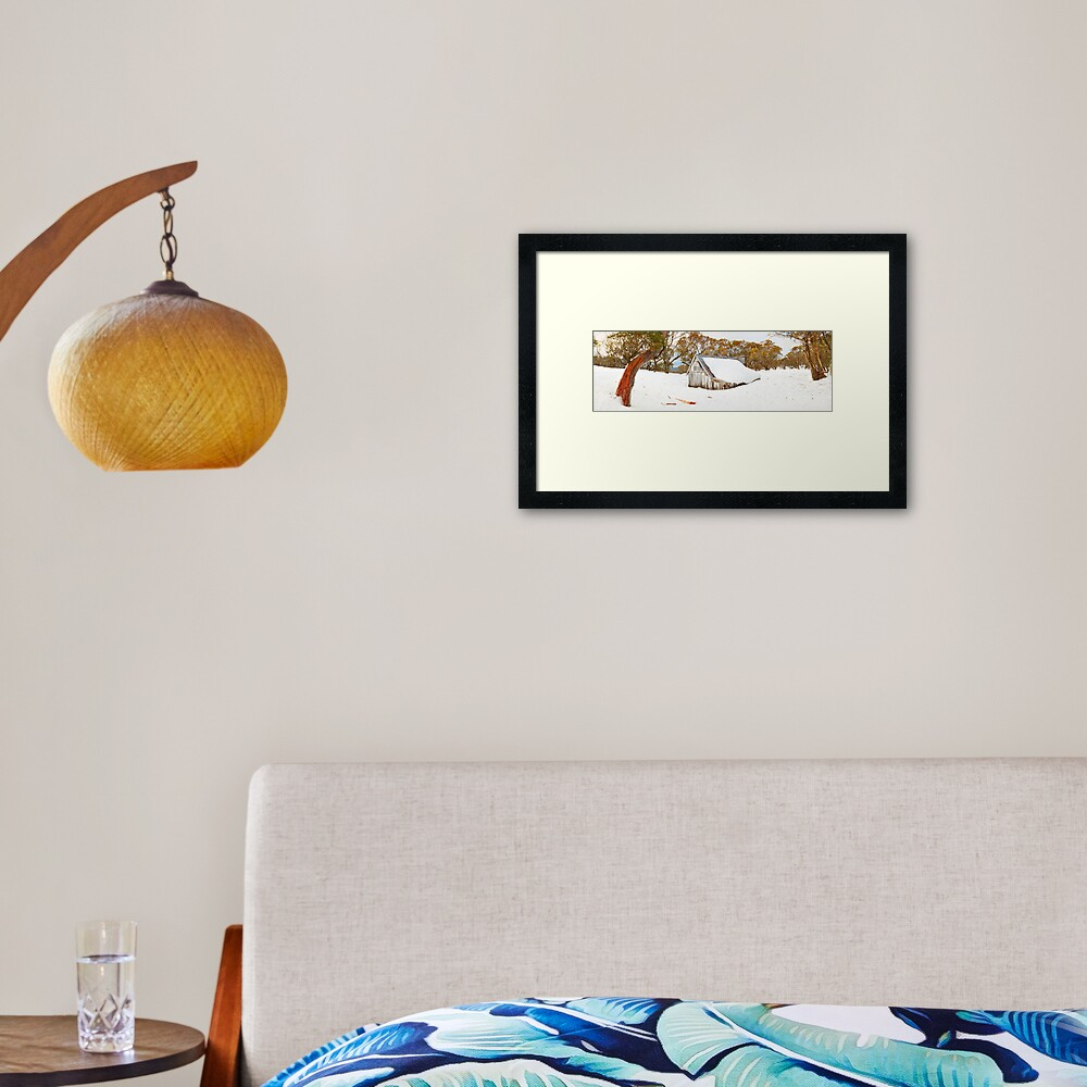 Snowed In, Wallace Hut, Falls Creek, Victoria, Australia Framed Art Print