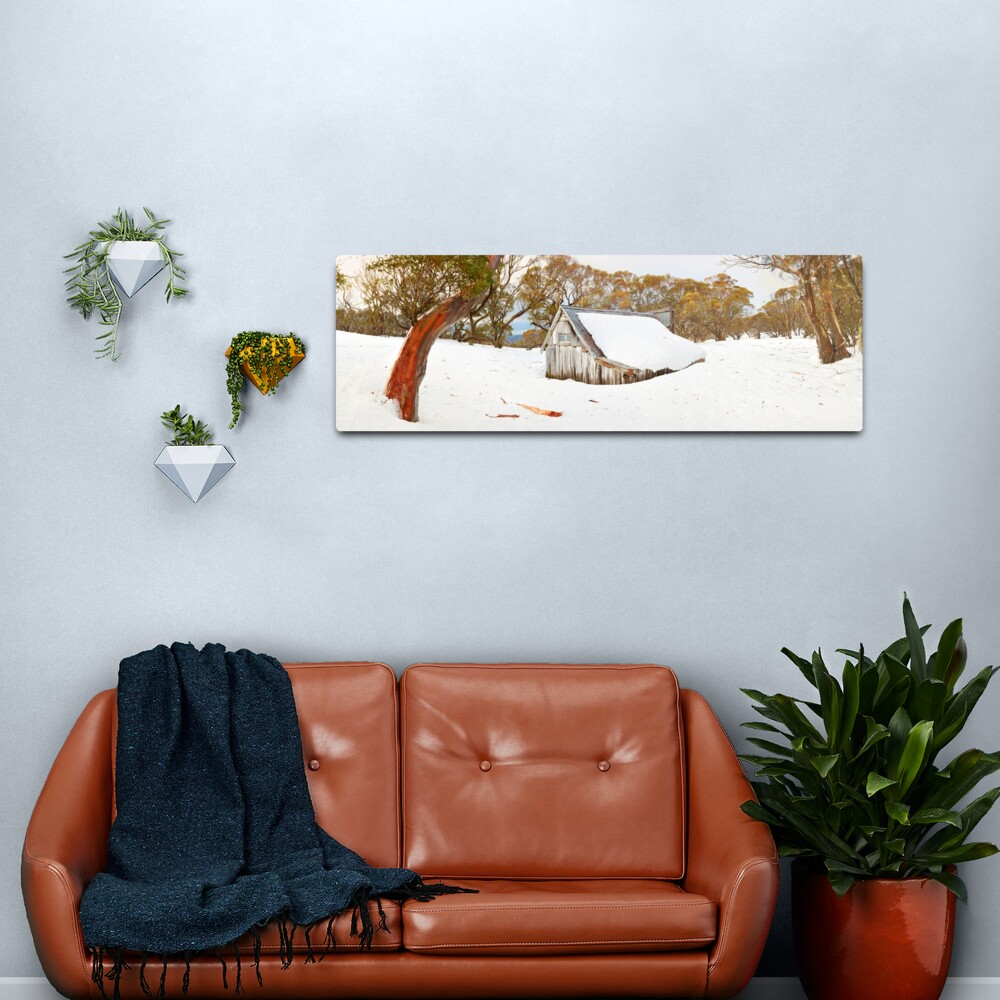 Snowed In, Wallace Hut, Falls Creek, Victoria, Australia Metal Print