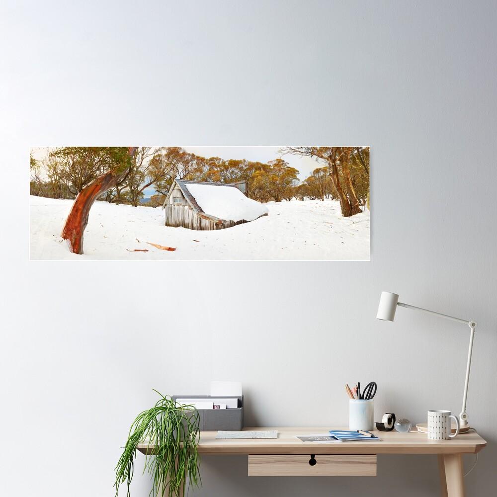 Snowed In, Wallace Hut, Falls Creek, Victoria, Australia Poster