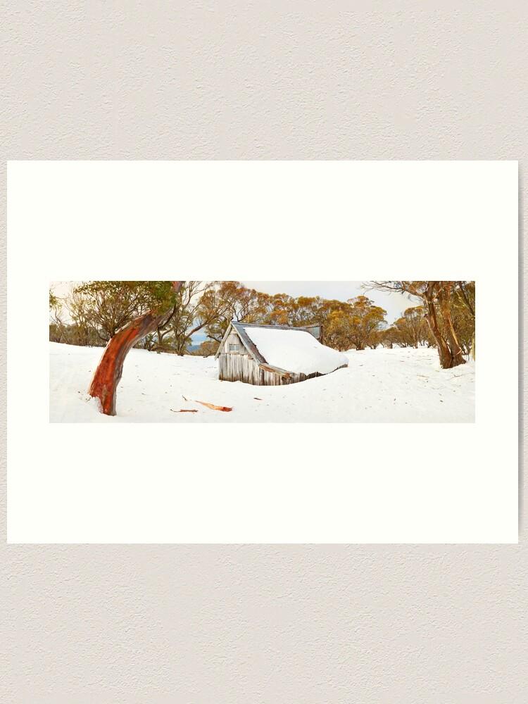 Alternate view of Snowed In, Wallace Hut, Falls Creek, Victoria, Australia Art Print