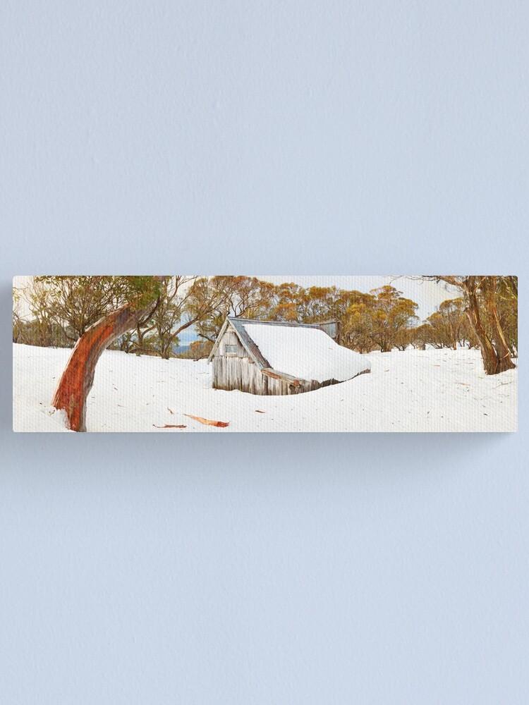 Alternate view of Snowed In, Wallace Hut, Falls Creek, Victoria, Australia Canvas Print