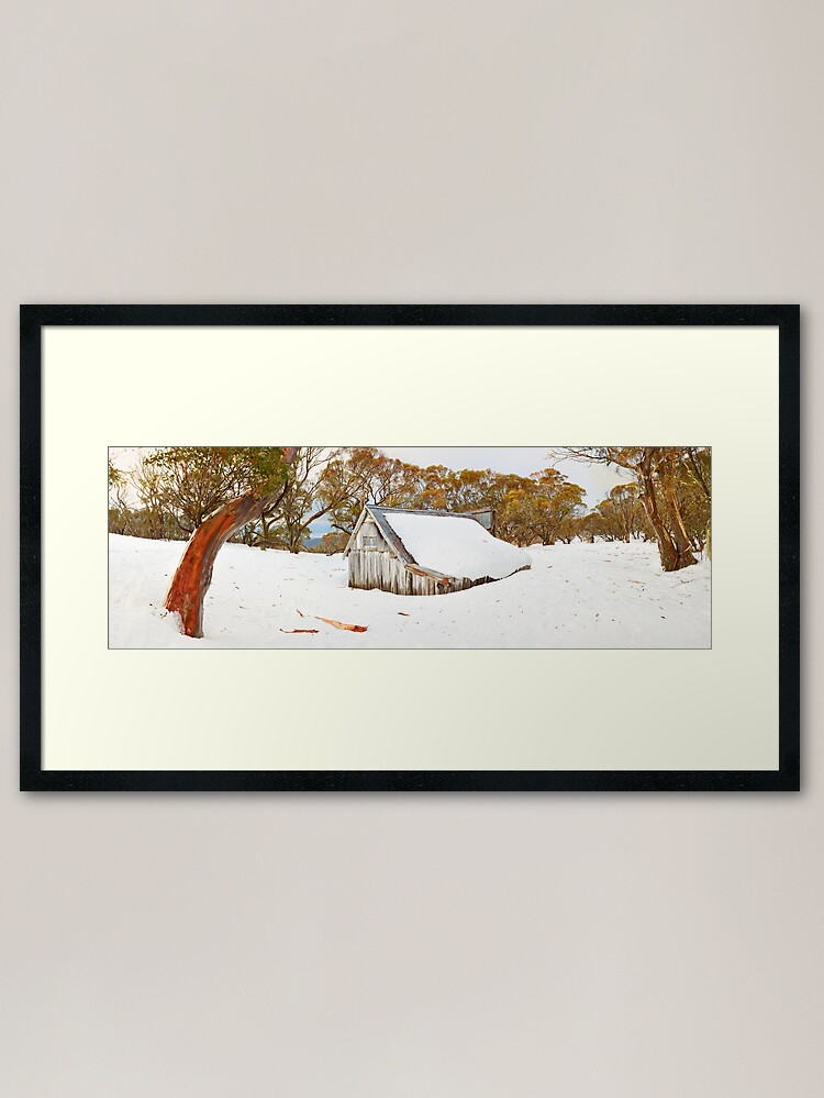 Alternate view of Snowed In, Wallace Hut, Falls Creek, Victoria, Australia Framed Art Print