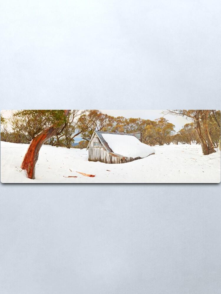 Alternate view of Snowed In, Wallace Hut, Falls Creek, Victoria, Australia Metal Print